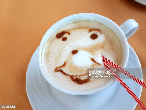 Coffee with smiley face