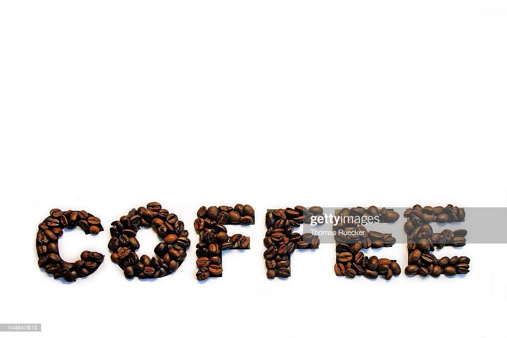 Coffee wording : Stock Photo