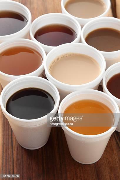 Cafés et thés de dégustation