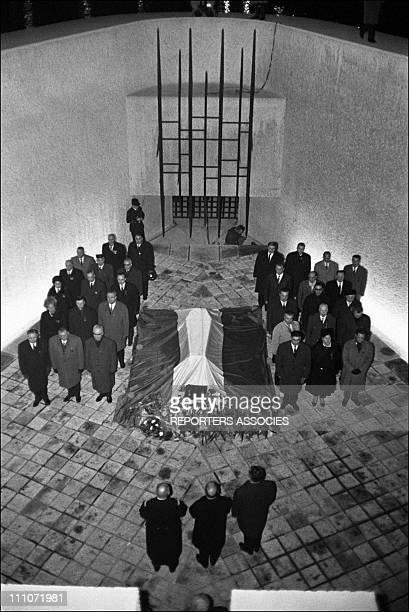 Coffin of Jean Moulin in Paris France on December 19 1964