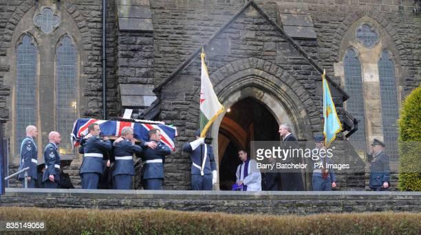 Coffin of Nikkita Walters arrives at St David's Church Tonyrefail