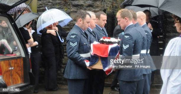 Coffin of Nikkita Walters is carried from St David's Church Tonyrefail