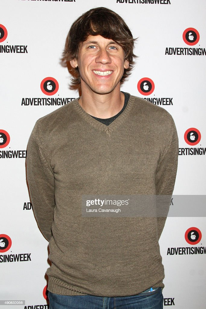 Co-Founder and CEO at FourSquare <a gi-track='captionPersonalityLinkClicked' href=/galleries/search?phrase=Dennis+Crowley&family=editorial&specificpeople=6729326 ng-click='$event.stopPropagation()'>Dennis Crowley</a> poses at the Managing Disruption panel presented by Ernst & Young during Advertising Week 2015 AWXII at the Times Center Stage on September 30, 2015 in New York City.