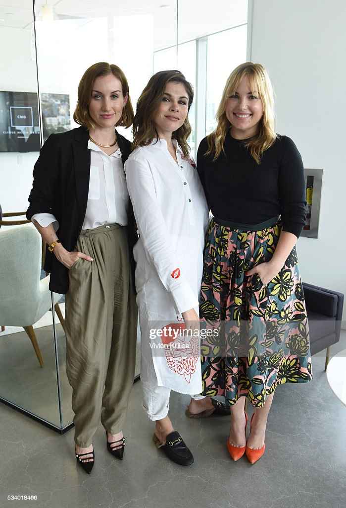 Co-founder and CEO of Clique Media Group Katherine Power, Founder and CEO of Into the Gloss and Glossier Emily Weiss and co-founder of Clique Media Group <a gi-track='captionPersonalityLinkClicked' href=/galleries/search?phrase=Hillary+Kerr&family=editorial&specificpeople=5767451 ng-click='$event.stopPropagation()'>Hillary Kerr</a> attend the Fast Company Creativity Counter-Conference 2016 on May 24, 2016 in Los Angeles, California.