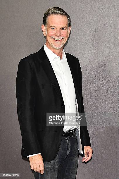 Cofounder and CEO of Netflix Reed Hastings attends a photocall for the Netflix launch at Palazzo Parigi on October 22 2015 in Milan Italy