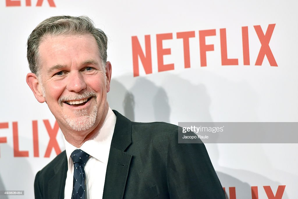 Cofounder and CEO of Netflix Reed Hastings attends a red carpet for the Netflix launch at Palazzo Del Ghiaccio on October 22 2015 in Milan Italy