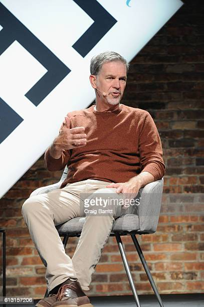Cofounder and CEO of Netflix Reed Hastings speaks onstage during The New Yorker TechFest 2016 on October 2 2016 in New York City