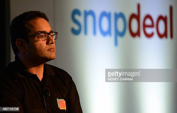 Cofounder and CEO of Snapdeal Kunal Bahl attends a press conference in New Delhi on July 15 2015 Snapdeal India's fastgrowing ecommerce website...