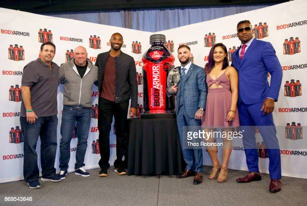 BODYARMOR CoFounder and Chairman Mike Repole UFC President Dana White BODYARMOR's Shareholder Kobe Bryant and UFC Fighters Cody Garbrandt Cynthia...