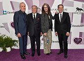 CoFounder and Chairman of Keep Memory Alive Larry Ruvo honoree Tony Bennett recording artist Steven Tyler and artist Jeff Koons attend Keep Memory...
