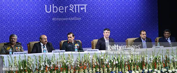 Cofounder and Chief Executive Officer of US tranportation company Uber Travis Kalanick at an event in New Delhi