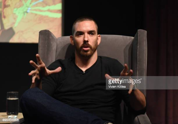Cofounder and coCEO of Riot Games Marc Merrill speaks at BAFTA Honours Riot Games with Special Award at The London West Hollywood on June 12 2017 in...