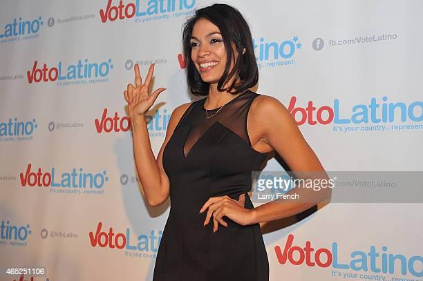 CoFounder and CoChair Rosario Dawson attends Voto Latino's 10th Anniversary Celebration at Hamilton Live on March 4 2015 in Washington DC
