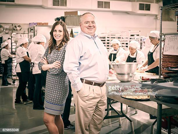 Cofounder and coowner of Thats Caring and nuphoriq Jamie Pritscher and owner of Tasty Catering Tom Walter are photographed for Forbes Magazine on May...
