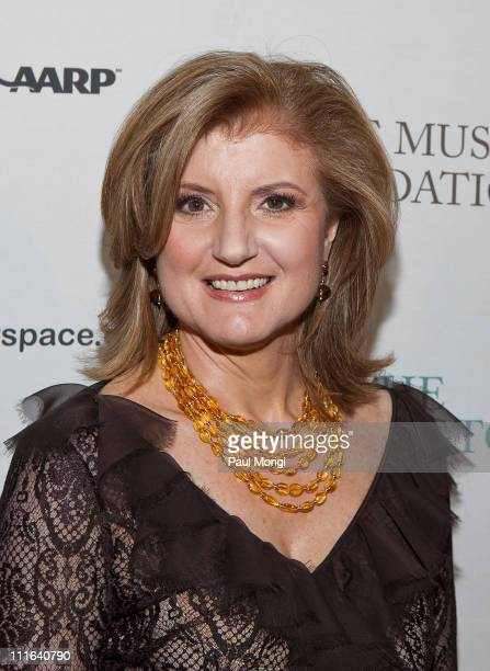 Cofounder and editorinchief of The Huffington Post Arianna Huffington at The Huffington Post preinaugural ball at the Newseum on January 19 2009 in...
