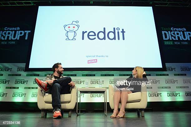 CoFounder and Executive Chair of Reddit and Partner at Y Combinator Alexis Ohanian and coeditor at TechCrunch Alexia Tsotsis appear onstage during...