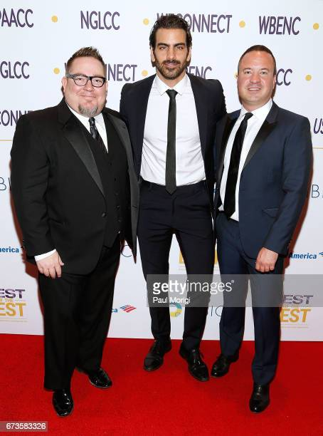 NGLCC CoFounder and President Justin Nelson advocate for the deaf community and model Nyle DiMarco and NGLCC CoFounder and CEO Chance Mitchell attend...