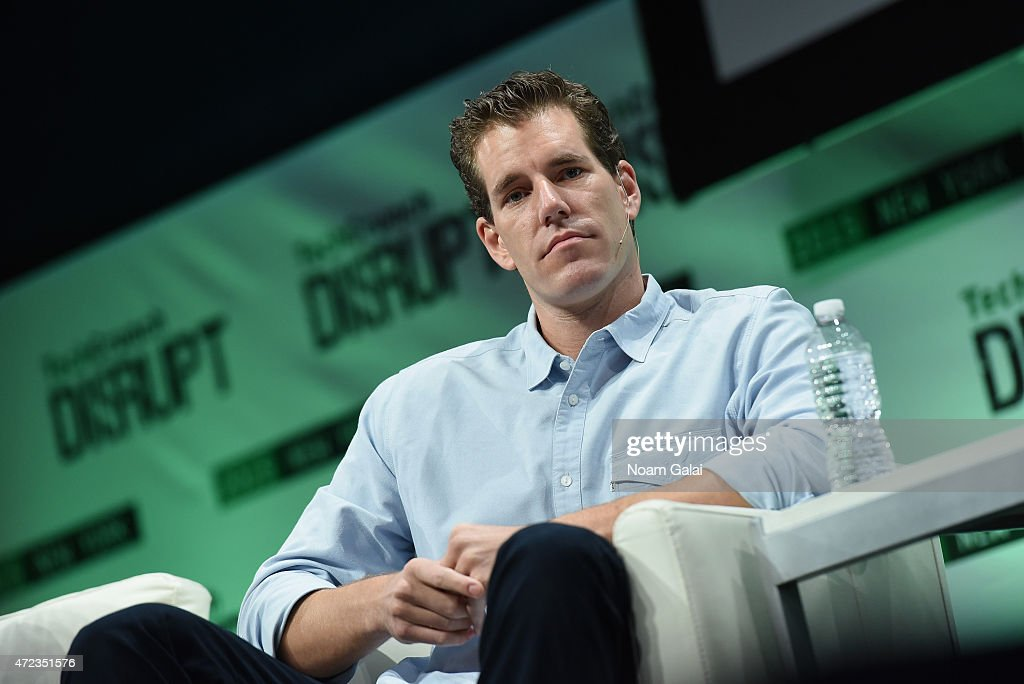 Co-Founder at Winklevoss Capital, <a gi-track='captionPersonalityLinkClicked' href=/galleries/search?phrase=Cameron+Winklevoss&family=editorial&specificpeople=5484898 ng-click='$event.stopPropagation()'>Cameron Winklevoss</a> speaks onstage during TechCrunch Disrupt NY 2015 - Day 3 at The Manhattan Center on May 6, 2015 in New York City.