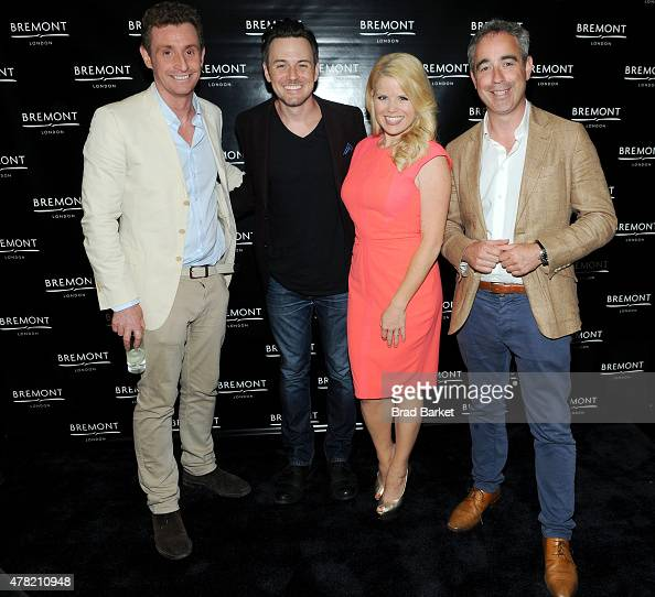 CoFounder Bremont Watch Company Nick English Brian Gallagher Megan Hilty and CoFounder Bremont Watch Company Giles English attend Bremont Watches NYC...