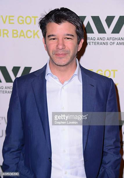 Cofounder CEO of Uber Travis Kalanick attends Iraq and Afghanistan Veterans of America 10th Anniversary Heroes Gala on November 13 2014 in New York...