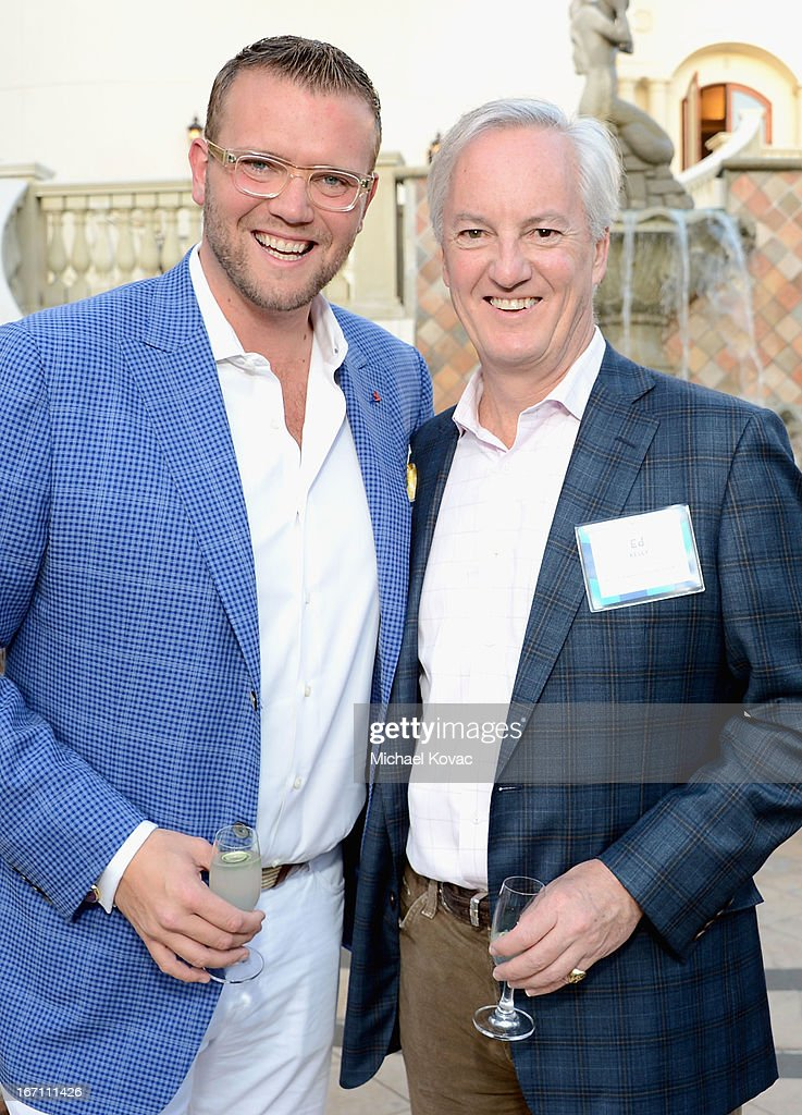 Co-Founder & Chief Executive Officer of Coastal Luxury Management David Bernahl (L) and American Express Publishing President & CEO Ed Kelly attend The American Express Publishing Luxury Summit 2013 at St. Regis Monarch Beach Resort on April 20, 2013 in Dana Point, California.