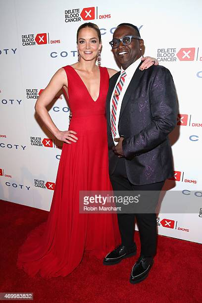 Cofounder Delete Blood Cancer Katharina Harf and Randy Jackson attend the 9th Annual Delete Blood Cancer Gala on April 16 2015 in New York City