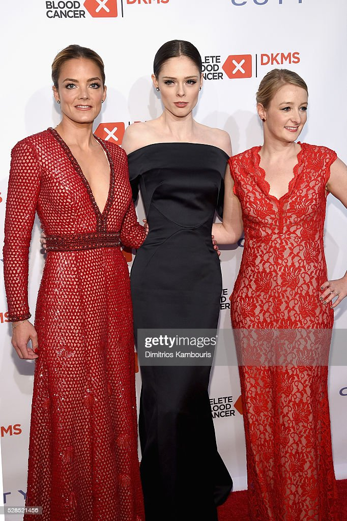 Co-founder, DKMS Katharina Harf, Coco Rocha and CEO, DKMS Carina Ortel attend the 10th Annual Delete Blood Cancer DKMS Gala at Cipriani Wall Street on May 5, 2016 in New York City.