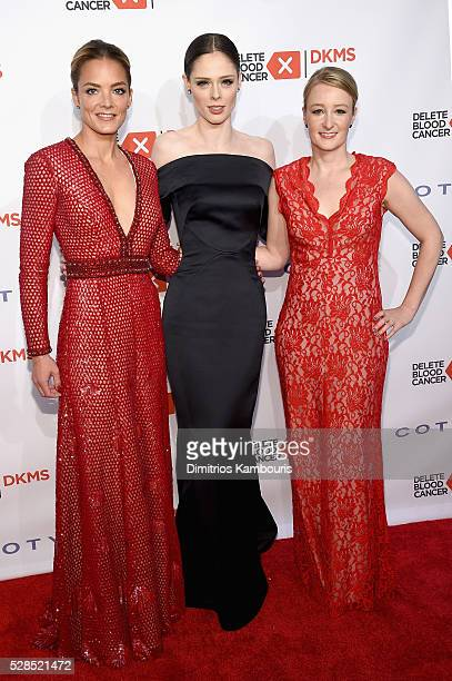 Cofounder DKMS Katharina Harf Coco Rocha and CEO DKMS Carina Ortel attend the 10th Annual Delete Blood Cancer DKMS Gala at Cipriani Wall Street on...