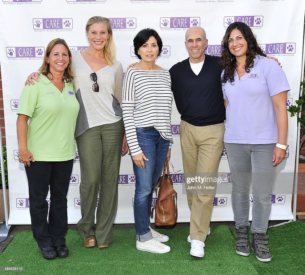 Co-Founder Dr. Amy L. Kramer, DPT, actress Katee Sackhoff, writer Marilyn Katzenberg, producer/partner SKG Jeffrey Katzenberg and Co-Founder Dr. Jessica Waldman, VMD attend the grand opening of the California Animal Rehabilitation Center on October 13, 2013 in Los Angeles, California.