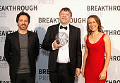 CoFounder Google Sergey Brin Professor Neuroscience University College Institute of Neurology London John Hardy posing with the 2016 Breakthrough...