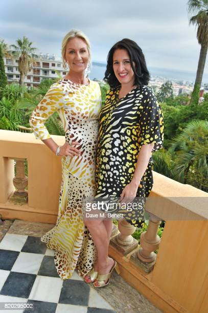 CoFounder Helen Johnson and creative director Amy Molyneaux attend the Lelloue launch party at Villa St George on July 21 2017 in Cannes France