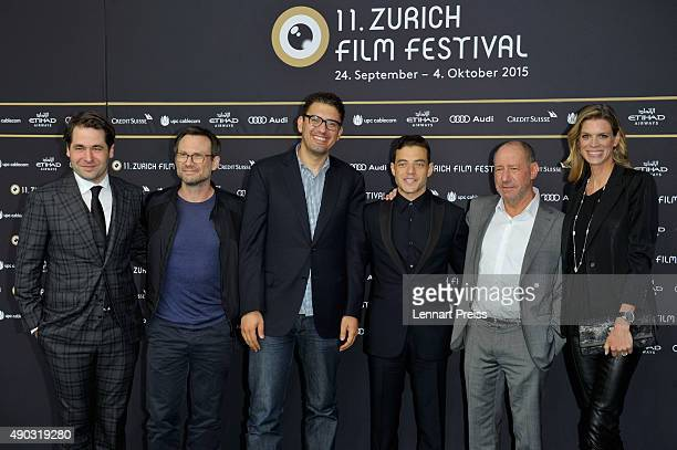 ZFF cofounder Karl Spoerr actor Christian Slater showrunner Sam Esmail actor Rami Malek producer Steve Golin and cofestival director Nadja...