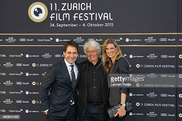 ZFF cofounder Karl Spoerri director JeanJacques Annaud and ZFF cofestival director Nadja Schildknecht attend the 'Wolf Totem' Premiere during the...
