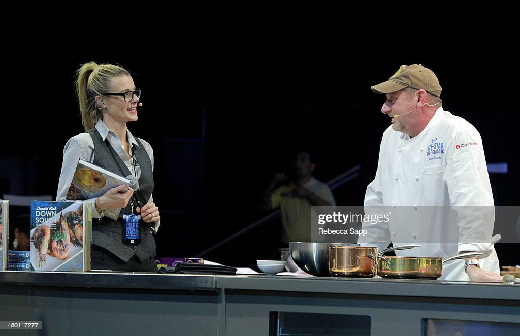 Co-Founder Krissy Lefebvre and chef Donald Link at the All-Star Chef Classic - Grill And Chill Presented By dineLA And Stella Artois at L.A. LIVE on March 22, 2014 in Los Angeles, California.