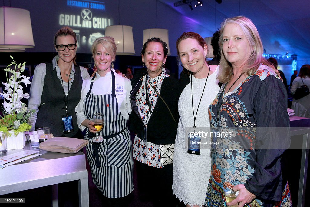 Co-Founder Krissy Lefebvre, chef Naomi Pomeroy, chef Nancy Silverton, ASCC Co-Founder Lucy Lean and chef Nancy Oakes at the All-Star Chef Classic - Grill And Chill Presented By dineLA And Stella Artois at L.A. LIVE on March 22, 2014 in Los Angeles, California.