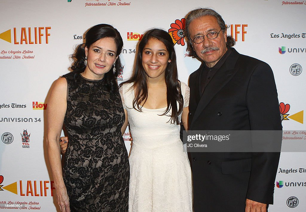 Co-Founder Marlene Dermer, Actor <a gi-track='captionPersonalityLinkClicked' href=/galleries/search?phrase=Edward+James+Olmos&family=editorial&specificpeople=213817 ng-click='$event.stopPropagation()'>Edward James Olmos</a> and his daughter Daniela Olmos attend The 2013 Los Angeles Latino International Film Festival - Closing Night Premiere of 'Nosotros Los Nobles' at The Orpheum Theatre on October 14, 2013 in Los Angeles, California.