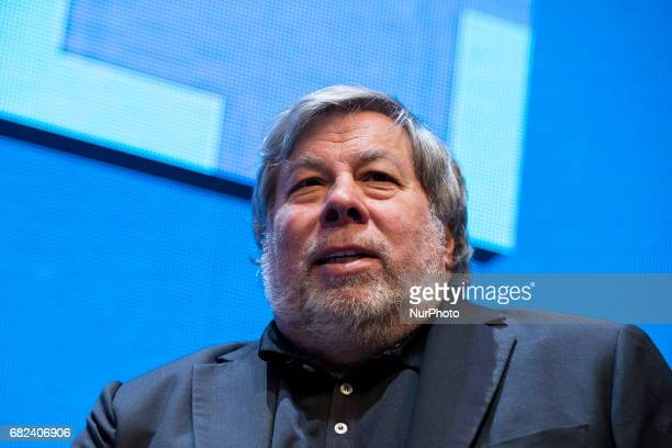 CoFounder of Apple Steve Wozniak is pictured during the Cube Challenge at the CUBE Tech Fair for startups in Berlin Germany on May 12 2017