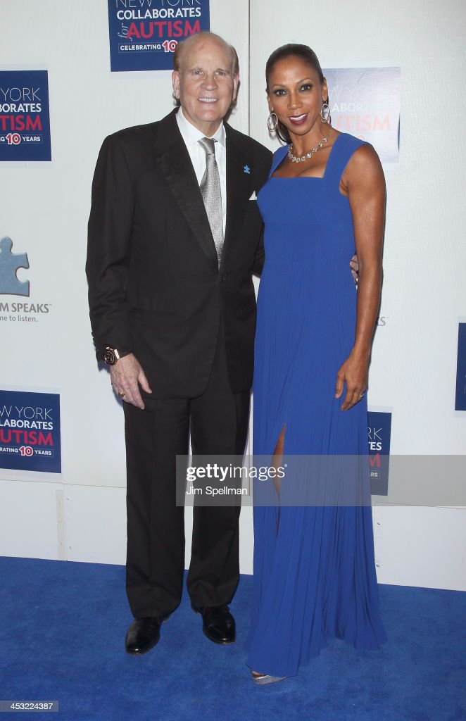 Co-Founder of Autism Speaks Bob Wright and actress/singer Holly Robinson Peete attend the 2013 Winter Ball For Autism the at Metropolitan Museum of Art on December 2, 2013 in New York City.