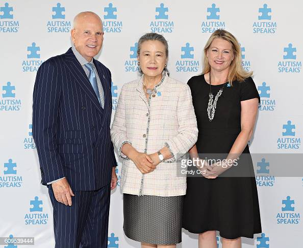 CoFounder of Autism Speaks Bob Wright spouse of UN Secretary General Ban Kimoon Ban Soontaek and Katie Wright attend Autism Speaks World Focus on...