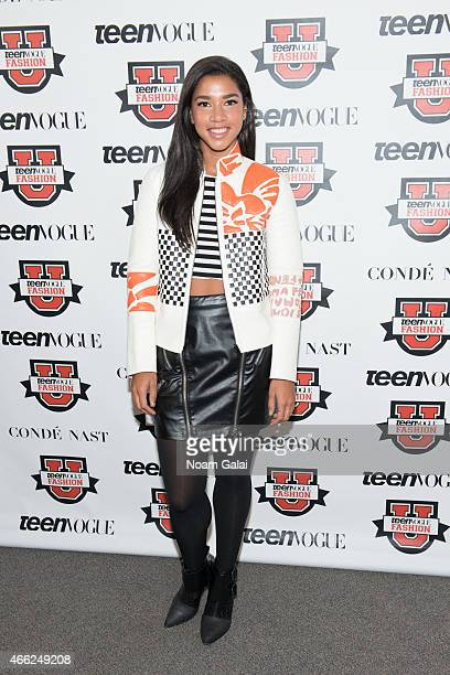 Cofounder of Beautified Hannah Bronfman attends Teen Vogue's 10th Annual Fashion University at Conde Nast on March 14 2015 in New York City