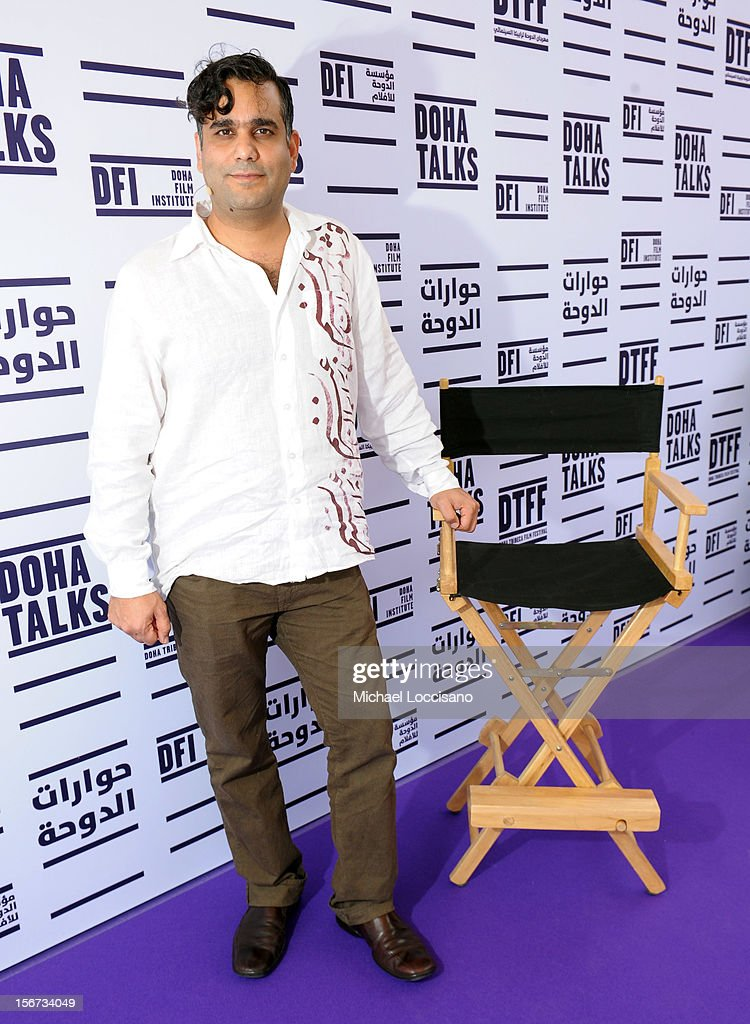 CEO & Cofounder of BoomGen Studios Mahyad Tousi speaks at Transmedia Workshop during the 2012 Doha Tribeca Film Festival at the Al Mirqab Boutique Hotel on November 20, 2012 in Doha, Qatar.