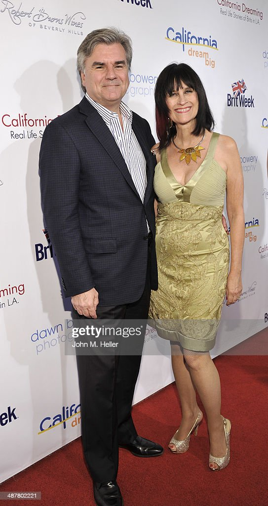 Co-founder of Brit Week Robert Pierce and Sharon Pierce attend the Local Woman Lights Up Hollywood a with Dream Book at the L'Ermitage Hotel on May 1, 2014 in Beverly Hills California.
