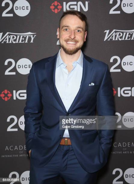 Cofounder of Butterscotch Shenanigans Sam Coster attends the 20th annual DICE Awards at the Mandalay Bay Convention Center on February 23 2017 in Las...