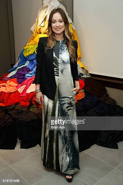 CoFounder of Conscious Commerce Olivia Wilde poses at HM Conscious Exclusive event at HM Showroom on April 4 2016 in New York City