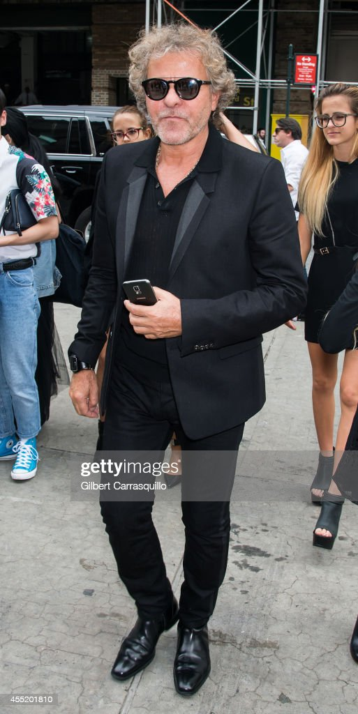 Cofounder of Diesel Renzo Rosso is seen at the Diesel Black Gold fashion show during MercedesBenz Fashion Week Spring 2015 at Skylight at Moynihan...