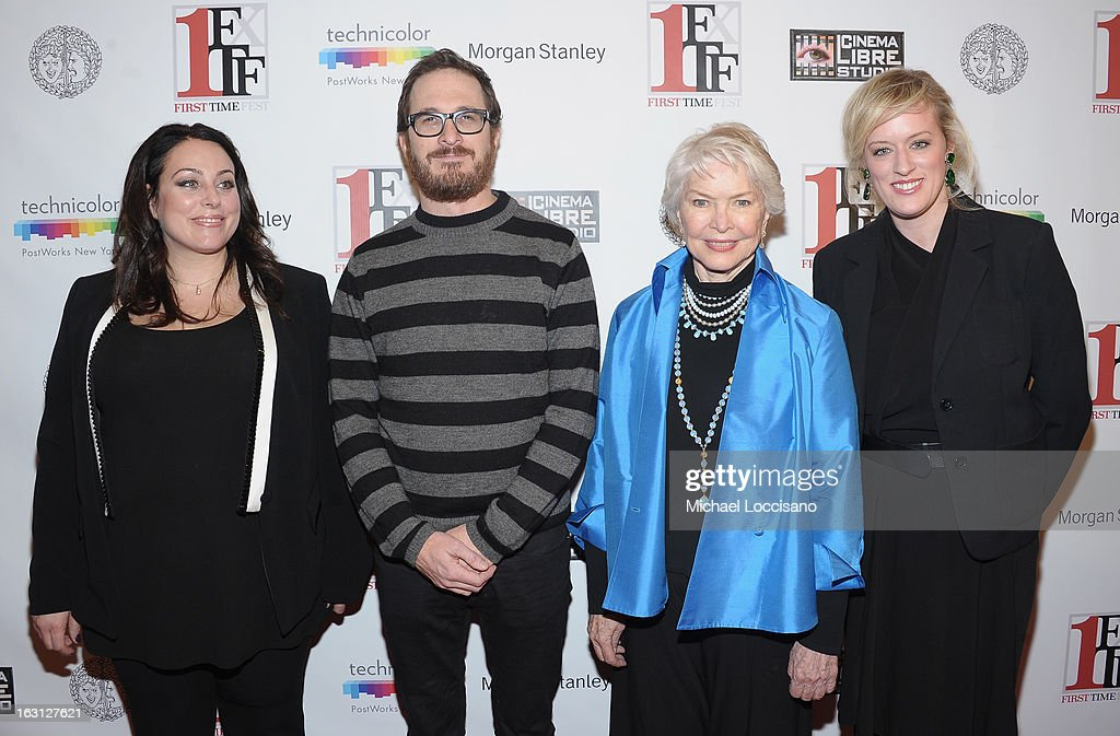 Co-Founder of First Time Fest Johanna Bennett filmmaker Darren Aronofsky, actress Ellen Burstyn and Co-Founder of First Time Fest Mandy Ward attend the closing night awards during the 2013 First Time Fest at The Players Club on March 4, 2013 in New York City.