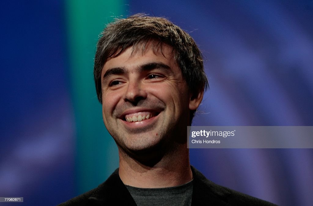 Co-founder of Google <a gi-track='captionPersonalityLinkClicked' href=/galleries/search?phrase=Larry+Page&family=editorial&specificpeople=753550 ng-click='$event.stopPropagation()'>Larry Page</a> smiles during the Clinton Global Inititative annual meeting September 27, 2007 in New York.