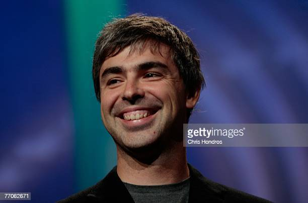 Cofounder of Google Larry Page smiles during the Clinton Global Inititative annual meeting September 27 2007 in New York
