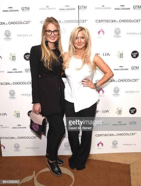 Cofounder of ICONIC PR LND and curator Katrina Aleksa and guest attend the ICONIC PR LND and PerrierJouët art presention of works by Picasso Miro...