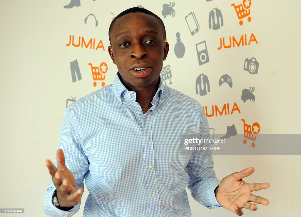 Co-founder of Jumia in Nigeria, Tunde Kehinde, speaks about the company in Lagos on June 17, 2013. JUMIA is a Nigerian based online retail company, where customers purchase their electronics, books, phones, DVDs and other choice products and have them shipped directly to their homes or offices with several payment options to choose from. JUMIA, the fourth largest Nigerian website, which recently turned one years old have hit over half a million customers in the country. Jumia is funded by Rocket Internet, a Germany based Internet incubators globally responsible for starting market leading e-commerce companies. AFPPHOTO/PIUS UTOMI EKPEI